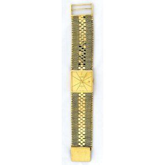JUVENIA AUTOMATIC. Reloj automático de pulsera para caballero. Oro 18k. Suiza, ca. 1960